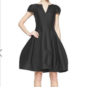 Halston Heritage Used size 0 Black Tulip Dress.